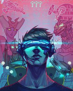Some wicked Ready Player One fan art by shaose_