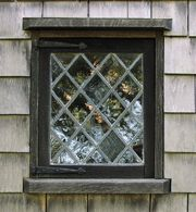Oldest house window, Nantucket  Jethro Coffin House, c 1686
