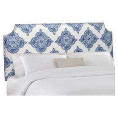 From its medallion—print upholstery to the classic nailhead trim, this handmade headboard adds effortless style to any bedroom. Let it stand out against a ...