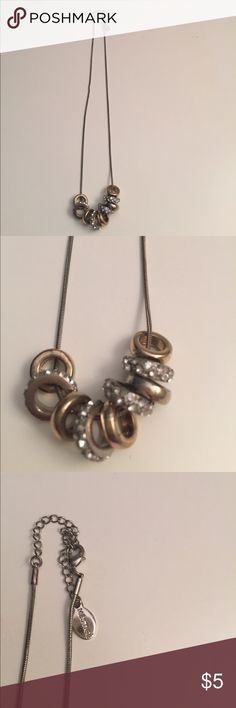 """16"""" gold and silver statement necklace 16"""" gold and silver necklace with extender. Jewelry Necklaces"""
