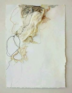 machine embroidery, lace, and mixed media on paper ; x (floated in frame to see torn paper edges) DeeAnn Rieves Collages, Textile Fiber Art, Textile Artists, Mixed Media Collage, Collage Art, Contemporary Embroidery, Textiles, Embroidery Art, Machine Embroidery