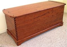 Dovetailed Blanket Chest by Louis Fry Craftsman in Wood Chest Furniture, Teak Furniture, Shoe Shelf In Closet, Small Woodworking Projects, Woodworking Plans, Woodworking Store, Wood Projects, Wooden Toy Chest, Wood Trunk