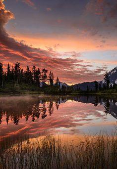 Photograph Mount Shuksan Fiery Sunrise by Dan Mihai on Beautiful Sites, Beautiful World, Beautiful Images, Outdoor Photography, Landscape Photography, Nature Photography, Rio, Rocky Mountain National Park, Amazing Nature