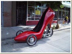 Shoe mobile better than bat mobile!
