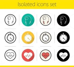 Cardio training. 12 icons. Vector. Sport Icons. $4.00