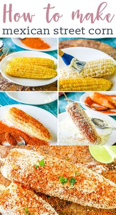 Mexican Street Corn Recipe {How to Make Corn Elotes at Home} Today we're talking all about how to make authentic Mexican Street Corn, AKA Elotes! One of the best Mexican side dishes, we'll share tips for getting it on the table quickly. Authentic Mexican Recipes, Mexican Food Recipes, Mexican Elotes Recipe, Corn Cob Recipes, Fresh Corn Recipes, Tajin Recipes, Hawaiian Recipes, Drink Recipes, Al Dente