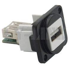 D type metal USB female to female connector with PCB style