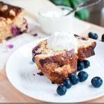 Lemon Curd and Blueberry Ribbon Cake