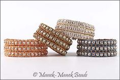 Le Manchette Art Deco : Manek-Manek Beads - Jewelry | Kits | Beads | Patterns