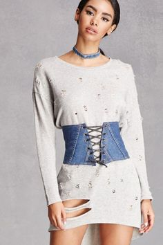 Sexy made Casual: Corset belt made of Denim. #style
