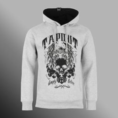 294b26caf37 Mikina Tapout Skull and Eagle light grey