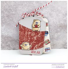 Bitty bear gift tags – | Lizland | Mft Stamps, Simple Gifts, Twine, Gift Tags, Super Cute, Reusable Tote Bags, Bear, Christmas Ornaments, Holiday Decor