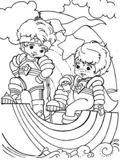 Rainbow Brite Was Playing With The Familiar Friends Coloring Pages