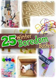Check out these Winter Time Bordem Busters that the KIDS WILL LOVE, so that those long hours indoors can be entertaining and educational!