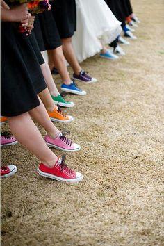 bridesmaids multicolor Chuck Taylors!
