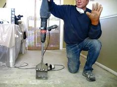 ▶ How to Remove tile mastic or thinset the easy way - Be Your Own Handyman @ Home - YouTube