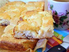 Быстрый пирог с яблоками и земляникой. рецепт с фотографиями