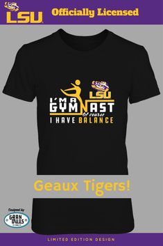 0a5944a634 LSU Gymnasts - GranDuds Design Officially licensed - Available on FanPrint!  NCAA Gymnastics Fans