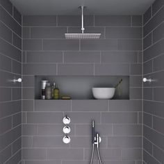 i like the shape - horizontal and roomy - of this shower niche | home | Pinterest | Shower niche, Bath and Master bathrooms