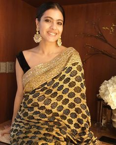 Looks To Steal From Ganesh Chaturthi Celebration Of Bollywood Celebs - - Bollywood Jewelry, Bollywood Fashion, Bollywood Style, Manish Malhotra Saree, Saree Trends, Kanjivaram Sarees, African Traditional Dresses, Desi Wear, Black Saree
