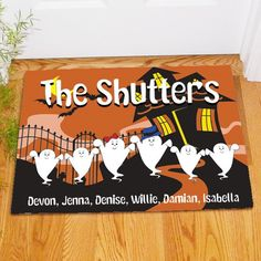 Ghost Family Personalized Doormat | Bellas Personal Gifts
