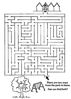 Hard Find The Way Home Maze Activity Page Plus More Than 15 Free Online Kids Games Suitable For Aged