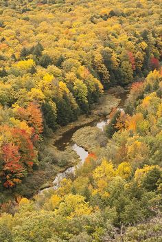 Meandering Porcupine River | Michigan (by adonyvan)