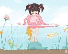 Children's Illustration by Hanna Sandvig, via Behance