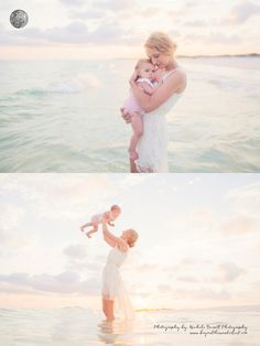 mother and baby beach pictures
