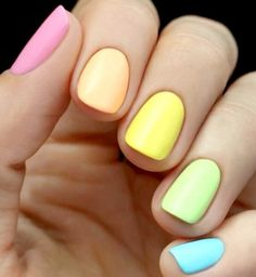 From how to care for your nails to the best nail polishes, nail tutorials and nail art inspiration, Allowmenstalk Nails shows the way to perfect manicures. Easter Nail Designs, Easter Nail Art, Nail Art Designs, Nails Design, Easter Color Nails, Cute Easy Nail Designs, Fruit Nail Designs, Neon Nails, Diy Nails