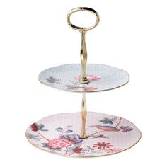 Harlequin Cuckoo 2-Tier Cake Stand