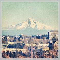 Mount Hood from the 405 in Portland. 1.23.14 #mounthood #mthood #portland #oregon #mountains