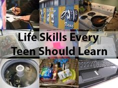Ten Life Skills Every Teen Should Learn - Re-pinned by @PediaStaff – Please Visit http://ht.ly/63sNt for all our pediatric therapy pins