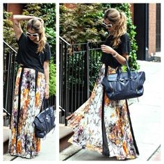 BEBE MULTI COLOR PLEATED FLORAL MAXI SKIRT 00 Nothing like a billowing skirt with a stunning floral print to provide an air of exotic escape. This Bebe style features pleated polyester chiffon with a contrasting black trim. Try yours with a crop top and a floppy hat to achieve a glamorous vacation look. This skirt is brand new without tags and has never been worn. It is a size 00. bebe Skirts Maxi
