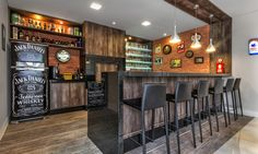 Trendy Home Bar Decorations Man Cave Ideas Decor, Home, House Design, Coffee Bar Home, Home Pub, Bars For Home, Basement Design, Trendy Home, Bar Interior
