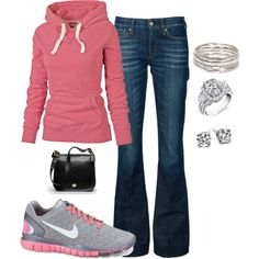 A fashion look from August 2012 featuring Fat Face sweatshirts, 7 For All Mankind jeans and NIKE sneakers. Browse and shop related looks.