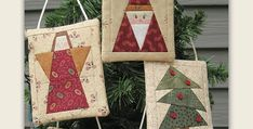 Pockets in the Back are Perfect for Gift Cards! Delve into your scraps and select your favorite combinations for these darling Christmas tree ornaments. Besides being beautiful on your tree, each one has a pocket in the back for holding a gift card. Make several in coordinating colors just for your tree. Or, if you'll …