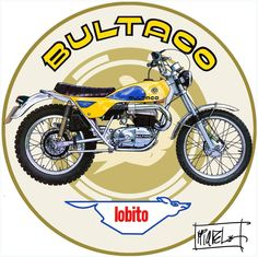 Lobito Bultaco Motorcycles, Motos Honda, Enduro Motorcycle, Motorbikes, Vintage Cycles, Vintage Bikes, Vintage Motorcycles, Cars And Motorcycles, Motos Trial