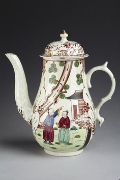 Coffee pot| Philip Christian & Co. | made in Liverpool in 1750-1775