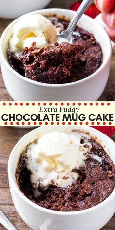 This moist chocolate mug cake fudgy, a little gooey and perfect for when your chocolate craving hits. It's ready in minutes and the delicious chocolate indulgence. Cake Chocolate Mug Cake Moist Chocolate Mug Cake, Microwave Chocolate Mug Cake, Mug Cake Microwave, Chocolate Mug Cakes, Chocolate Recipes, Delicious Chocolate, Microwave Brownie, Baking Chocolate, Chocolate Cake In A Cup Recipe