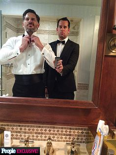 Joe Manganiello's White House Weekend Photo Diary | BROTHERLY LOVE | Looking good, fellas! The star and his brother (and weekend photographer!) get all dressed up for Saturday night's Correspondents' Dinner.