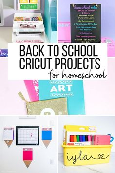 AD: Personalize your homeschool with Cricut! These back to school project ideas are perfect for homeschoolers, distance learning, or school at home. Love these ideas for back to school! Diy Back To School, Back To School Supplies, Cricut Tutorials, Cricut Ideas, Cricut Craft, Personalized School Supplies, Homework Organization, Math Groups, School Projects