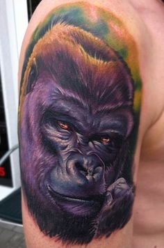 Gorilla tattoo. #jamestattooart