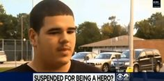 H.S. Football player suspended by School Principal for standing up for a smaller student, AGAINST a bully!!!   {Our world has gone to H***  !!!}
