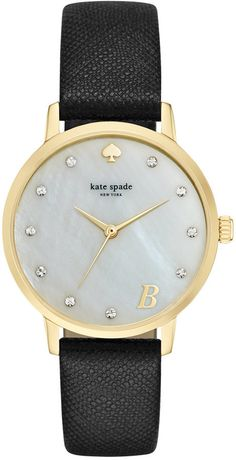 Kate Spade Monogram Black Watch. Perfect gift for Valentines Day coming up