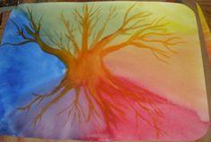 Waldorf watercolor painting