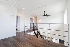 #リビング鉄骨階段 #手すり #ユーティリティスペース Narrow House, Track Lighting, Stairs, Design Ideas, Exterior, House Design, Ceiling Lights, Home Decor, Stairway