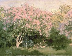 """Claude Monet, 1872 ~ """"Lilas en el sol"""""""
