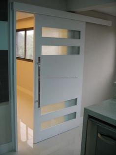 Slidding Door, Reclaimed Wood Desk, Hidden Bed, Indoor Doors, Pivot Doors, Pocket Doors, Wood Doors, Door Design, Locker Storage