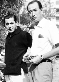 Knits For The Chill 135. Toshirô Mifune, with Akira Kurosawa.